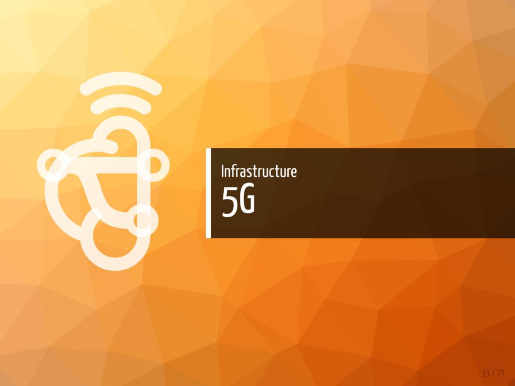   Infrastructure 5G 33 / 71