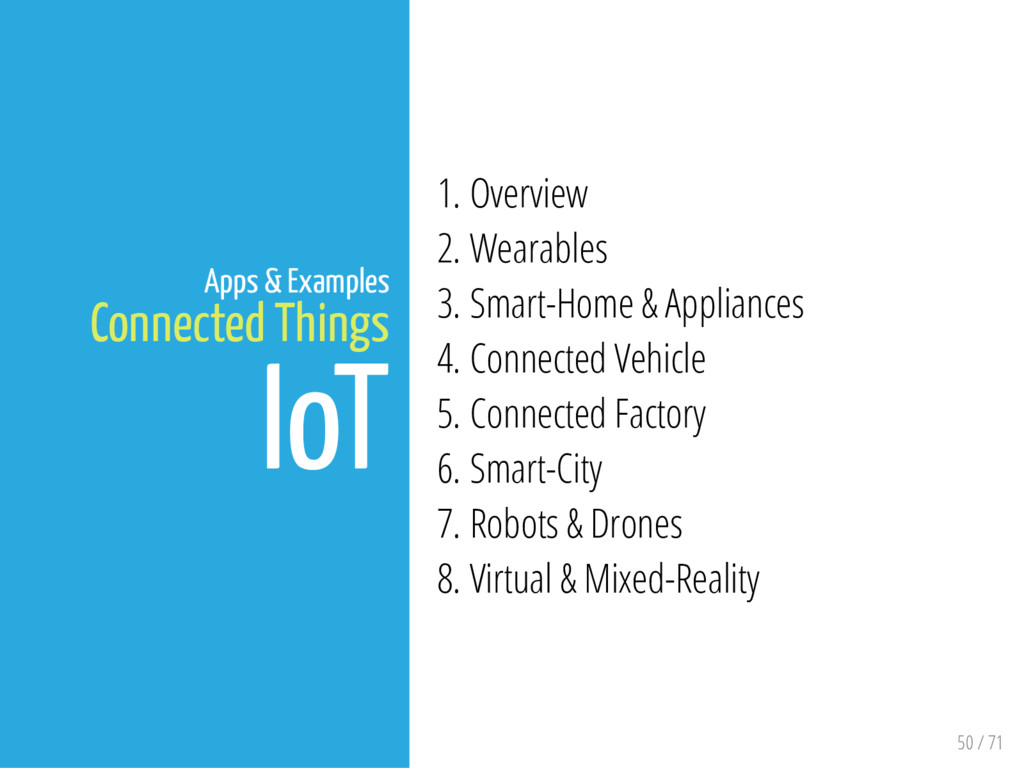 50 / 71 Apps & Examples Connected Things IoT 1....