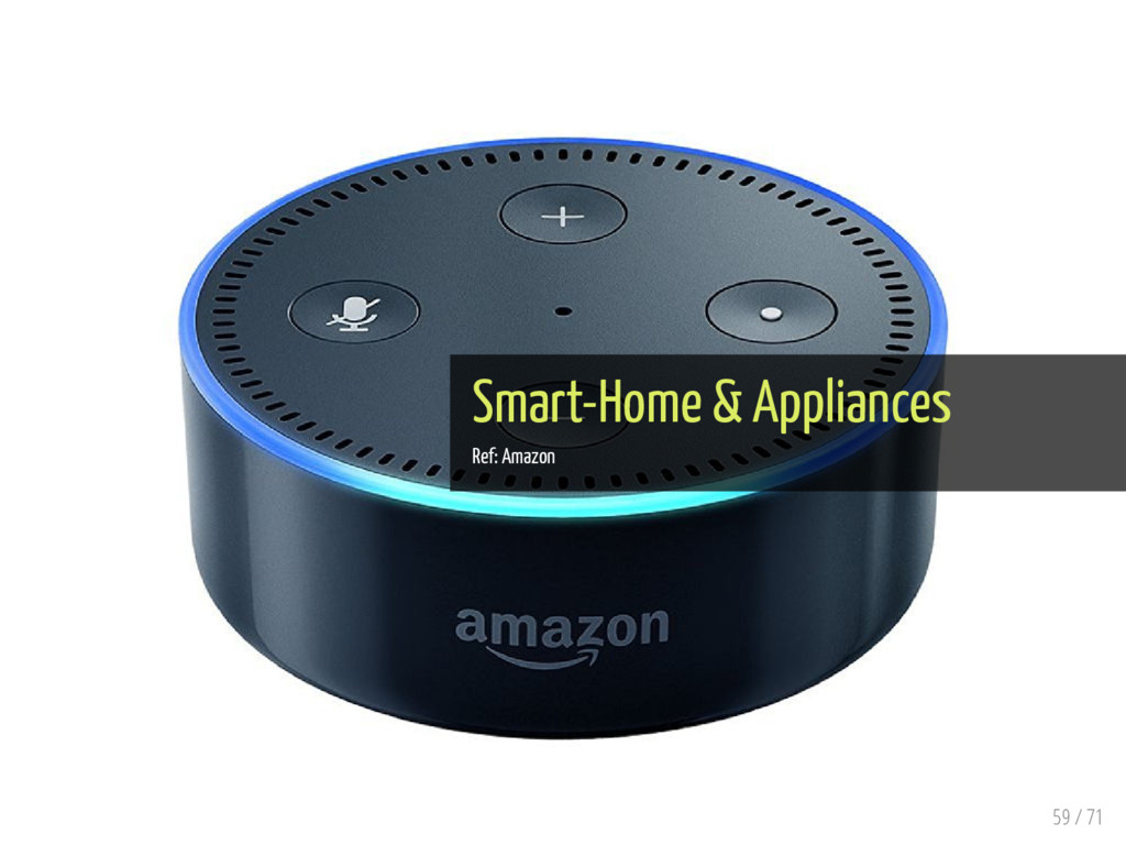 Smart-Home & Appliances Ref: Amazon 59 / 71