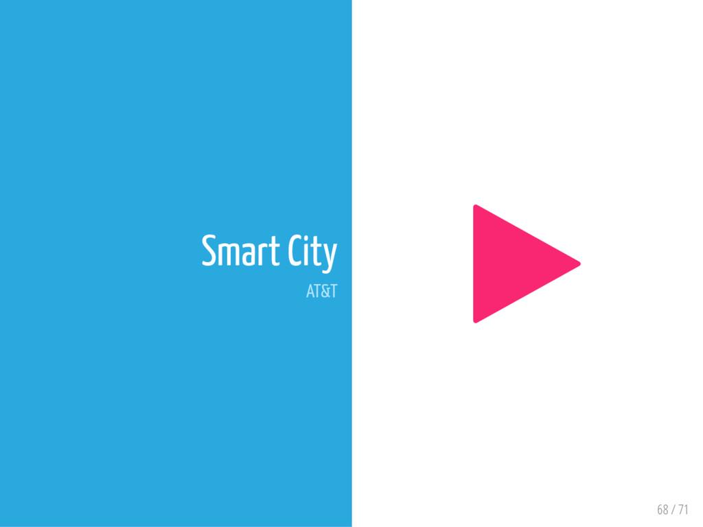 68 / 71 Smart City AT&T 
