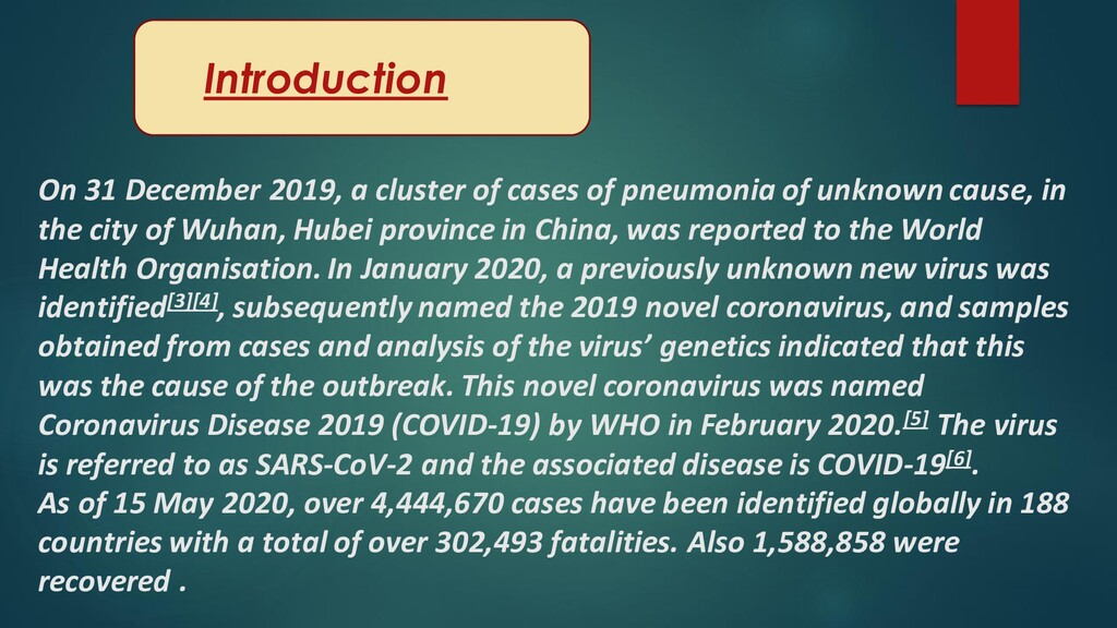 On 31 December 2019, a cluster of cases of pneu...