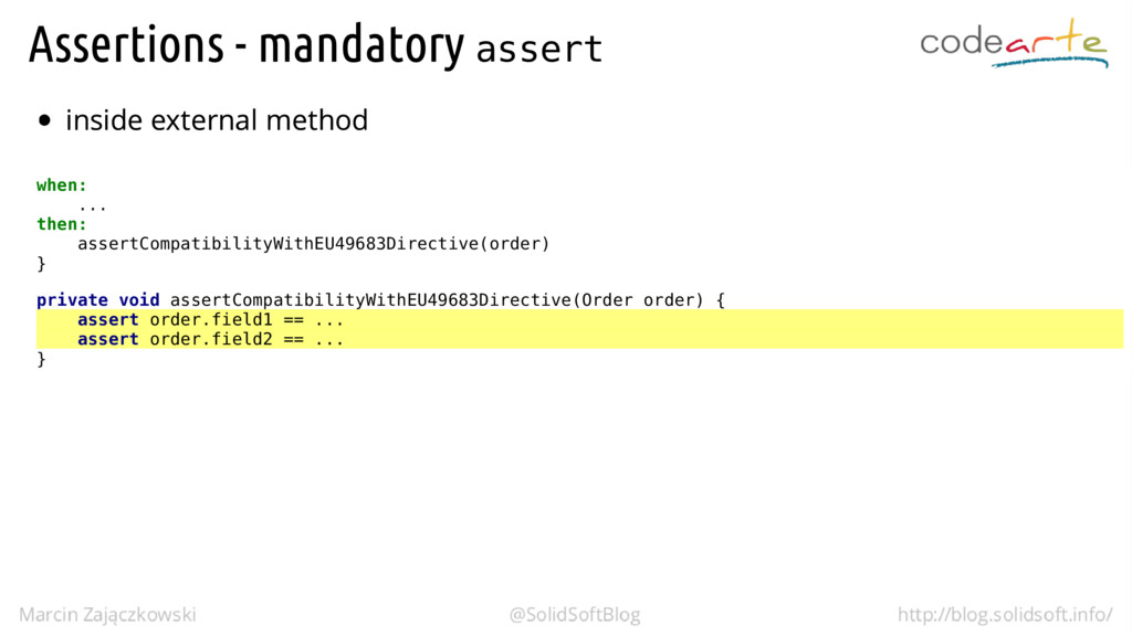 assert when: ... then: assertCompatibilityWithE...
