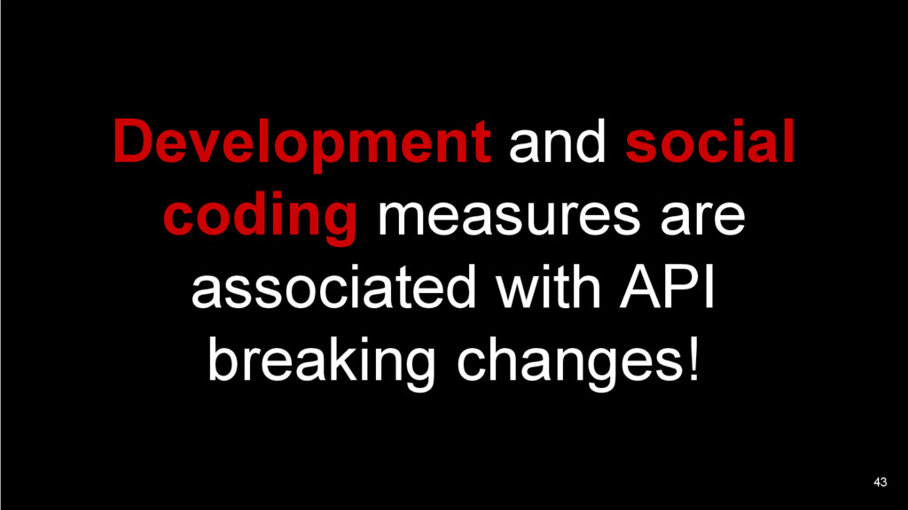 43 Development and social coding measures are a...