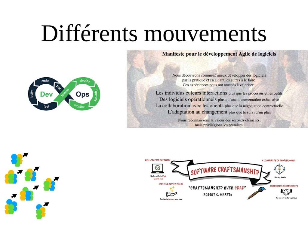 Différents mouvements
