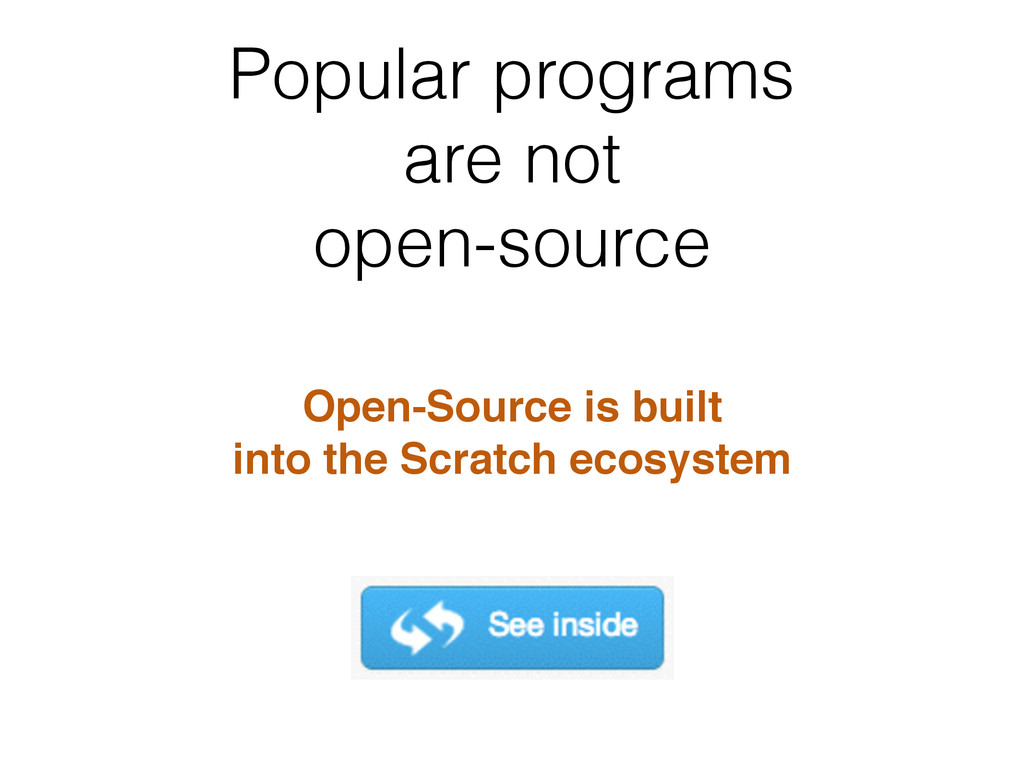 Popular programs are not open-source Open-Sourc...