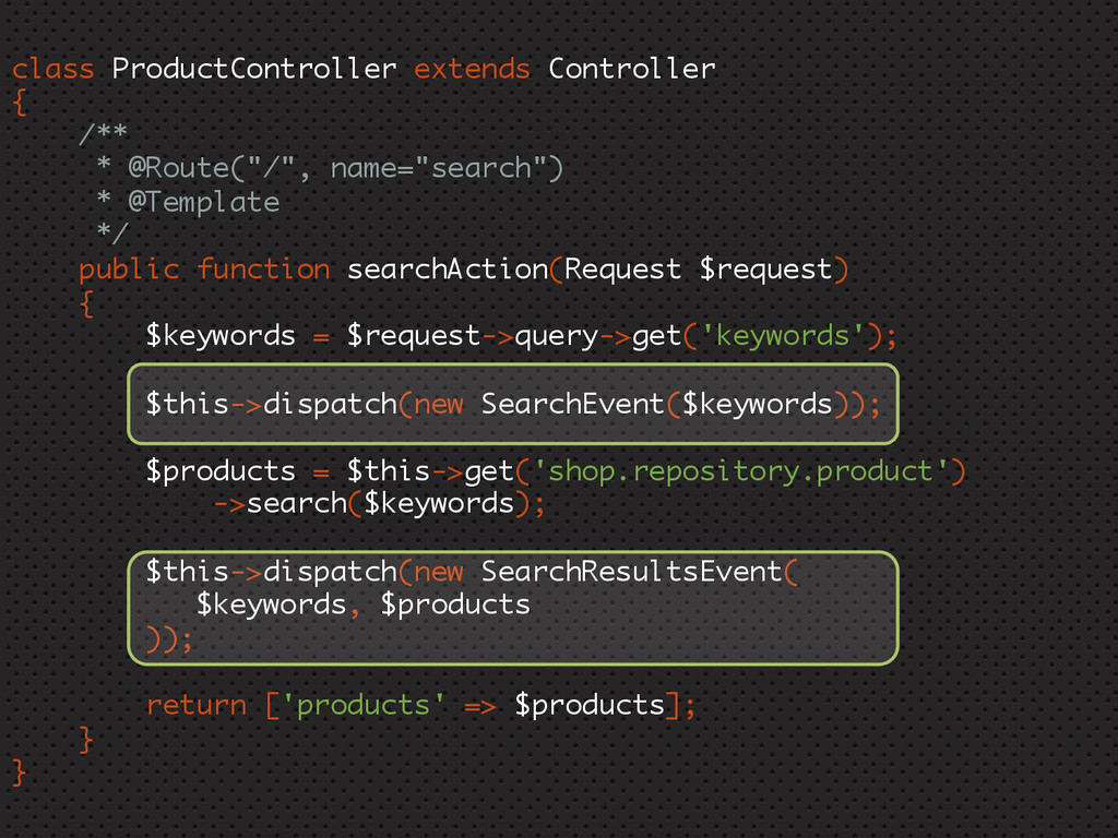 class ProductController extends Controller { /*...