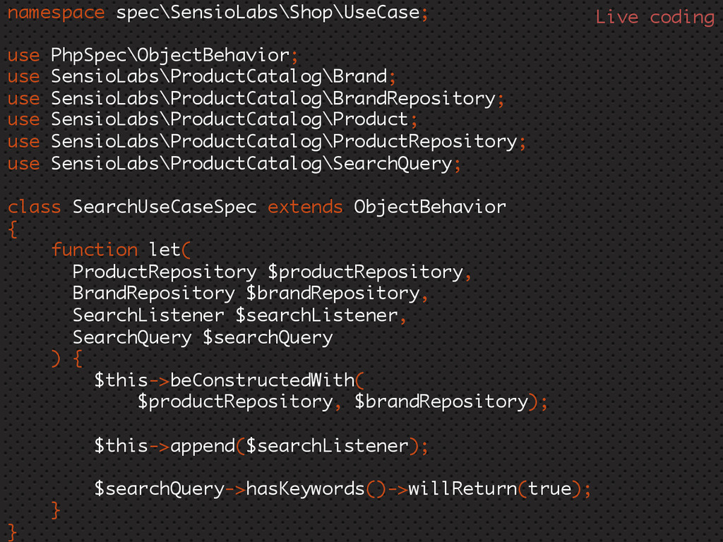 namespace spec\SensioLabs\Shop\UseCase; use Php...
