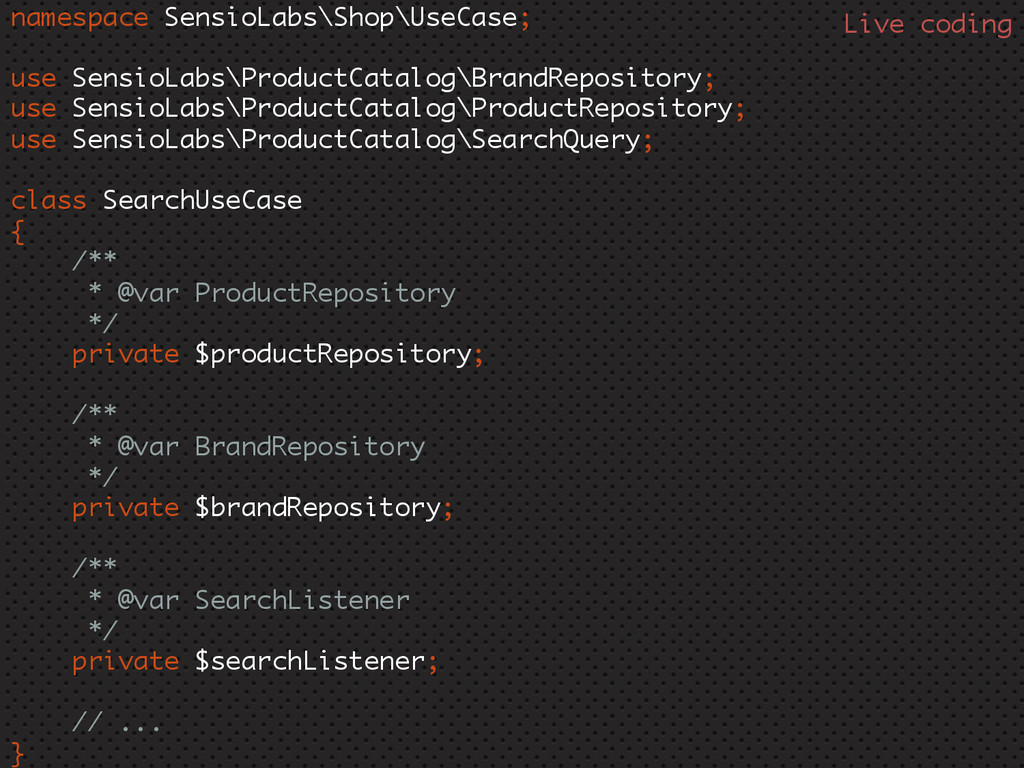 namespace SensioLabs\Shop\UseCase; use SensioLa...