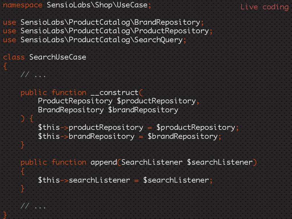 namespace SensioLabs\Shop\UseCase; use SensioLa...