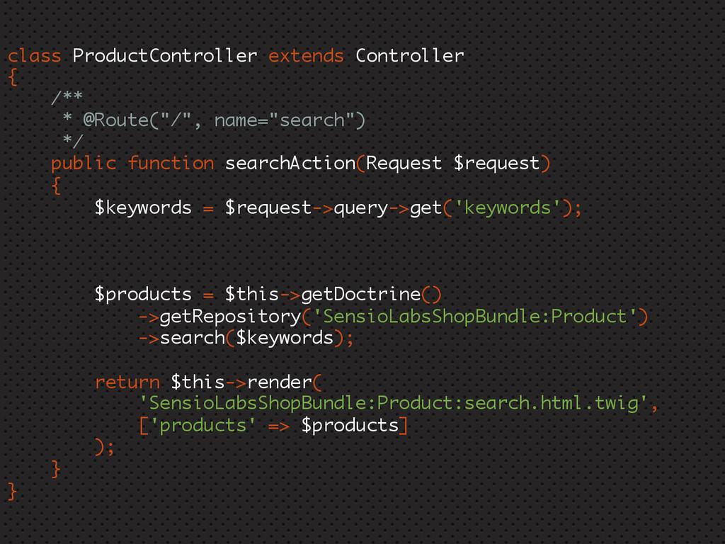 class ProductController extends Controller { /*...