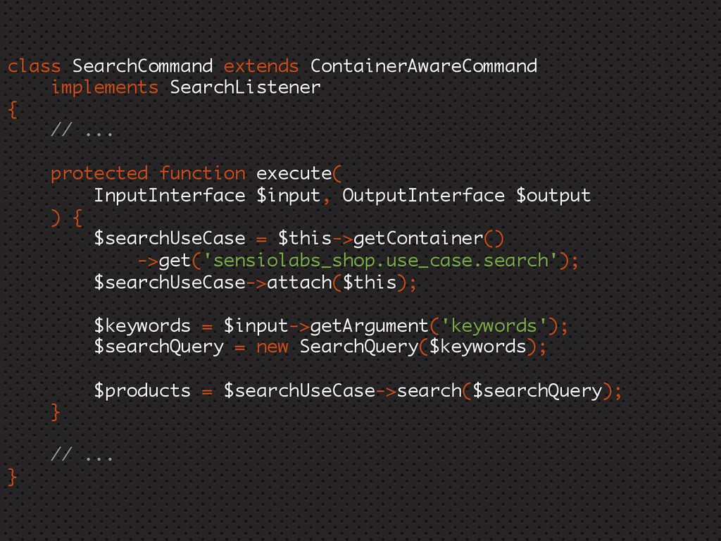 class SearchCommand extends ContainerAwareComma...