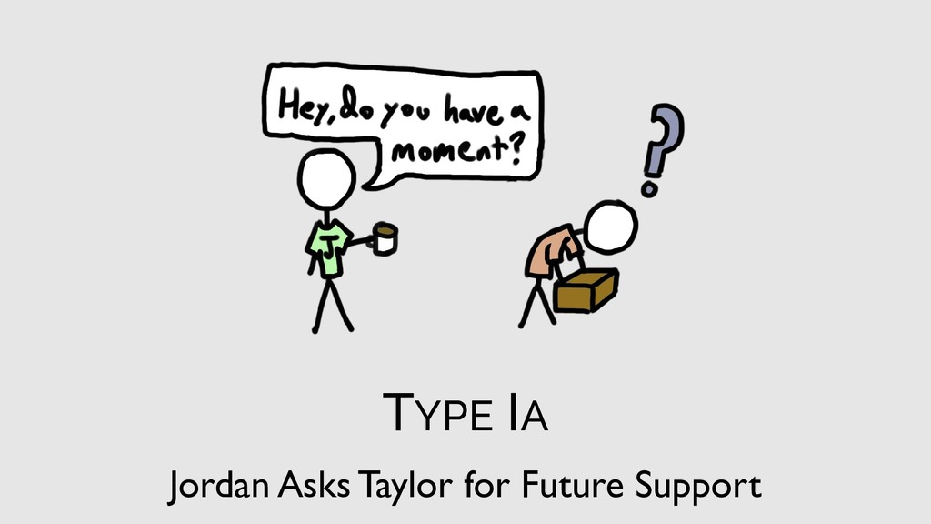 TYPE IA Jordan Asks Taylor for Future Support