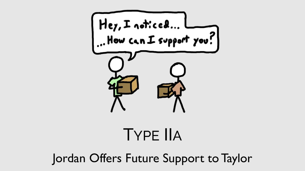 TYPE IIA Jordan Offers Future Support to Taylor