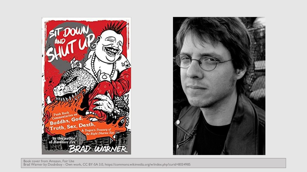 Book cover from Amazon, Fair Use Brad Warner by...