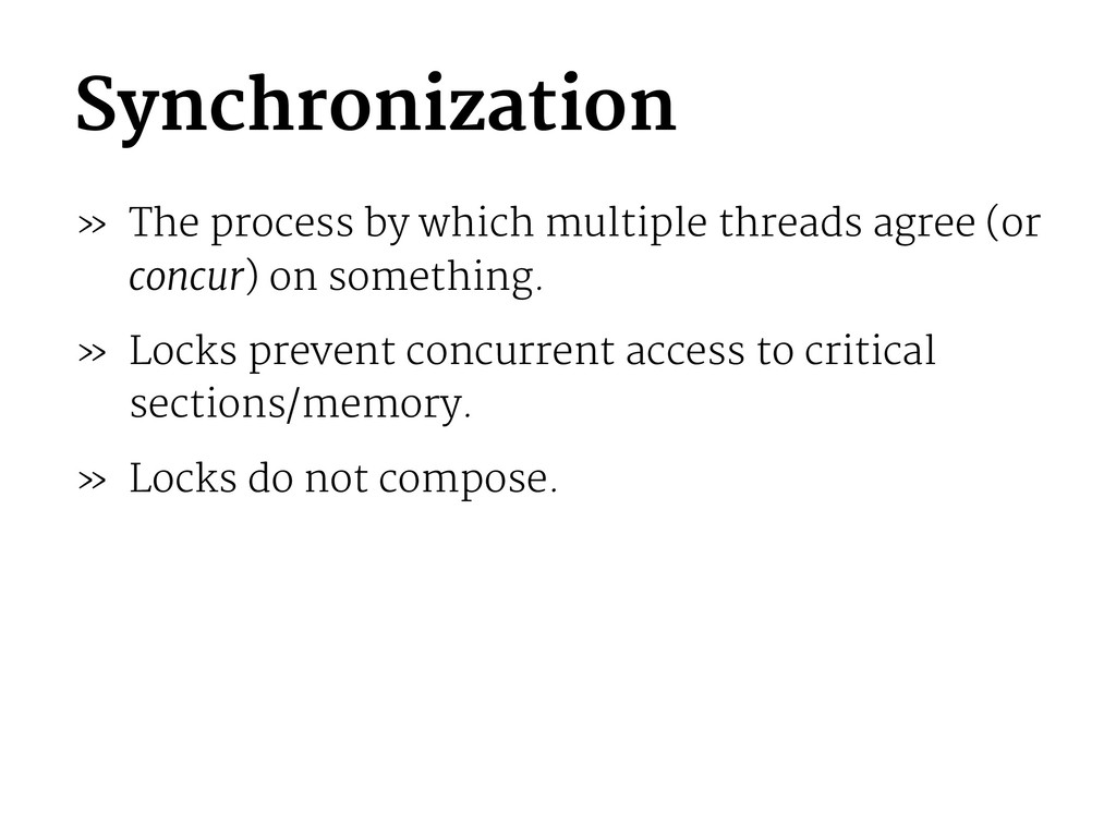 Synchronization » The process by which multiple...