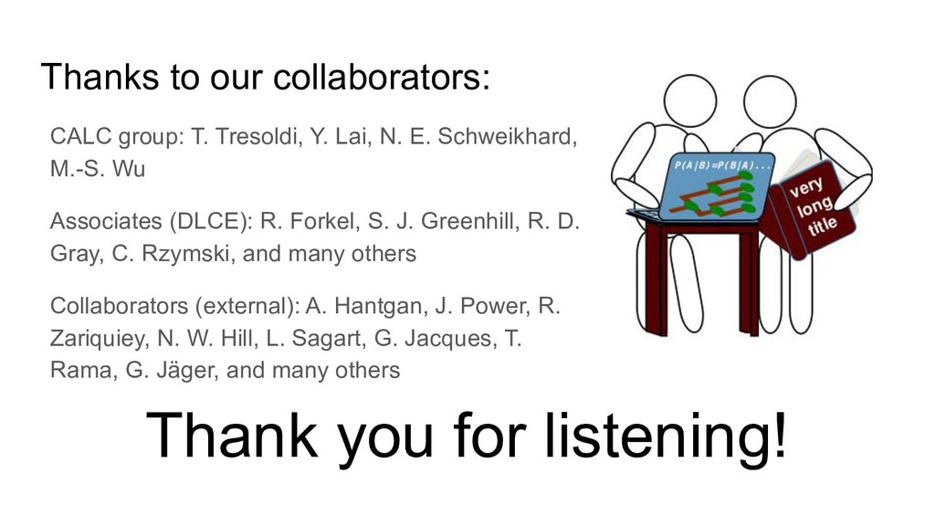 Thanks to our collaborators: Thank you for list...