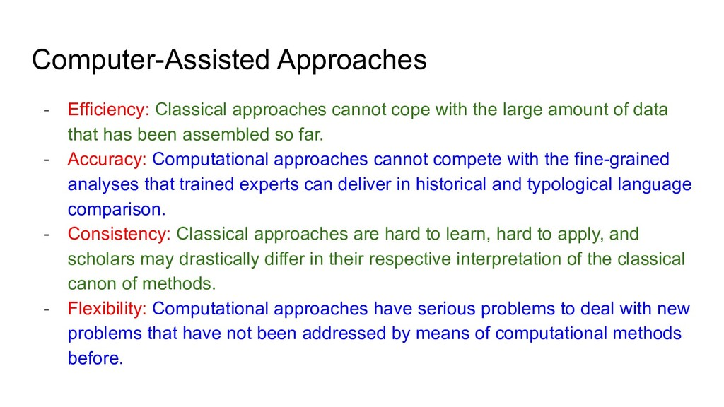 Computer-Assisted Approaches - Efficiency: Clas...