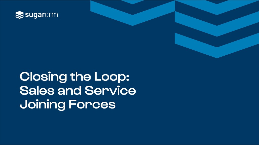 Closing the Loop: Sales and Service Joining For...