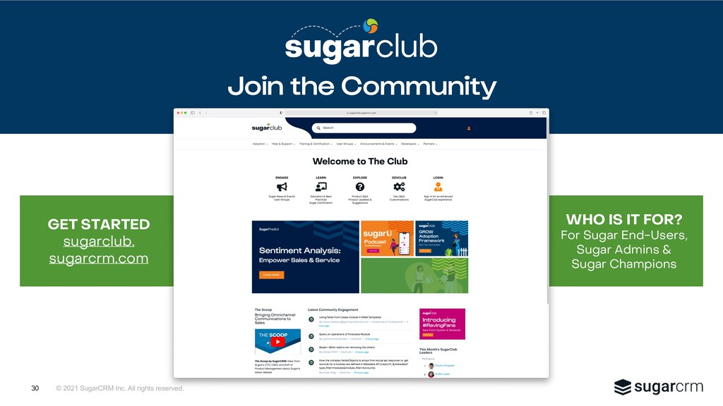 © 2021 SugarCRM Inc. All rights reserved. WHO I...