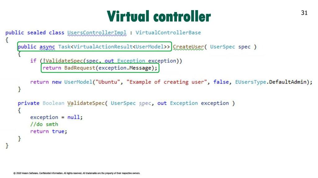 31 Virtual controller