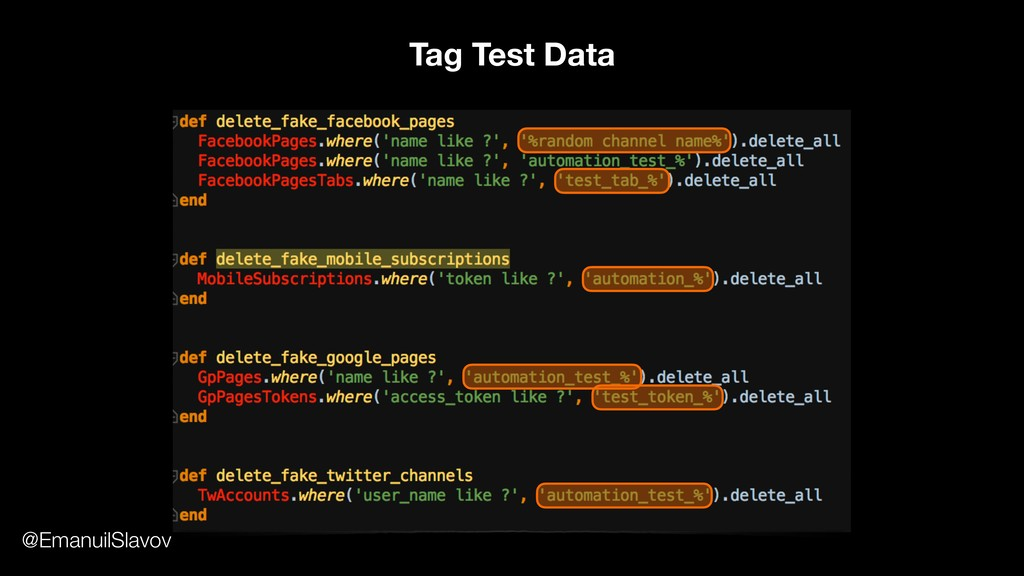 Tag Test Data @EmanuilSlavov