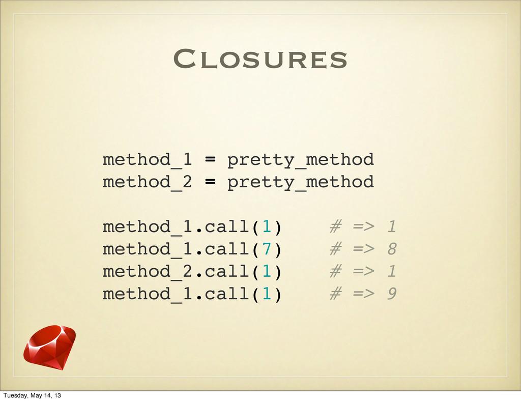 Closures method_1 = pretty_method method_2 = pr...