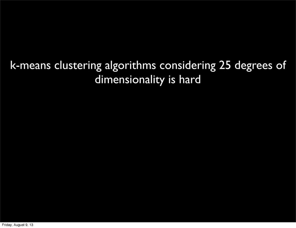 k-means clustering algorithms considering 25 de...