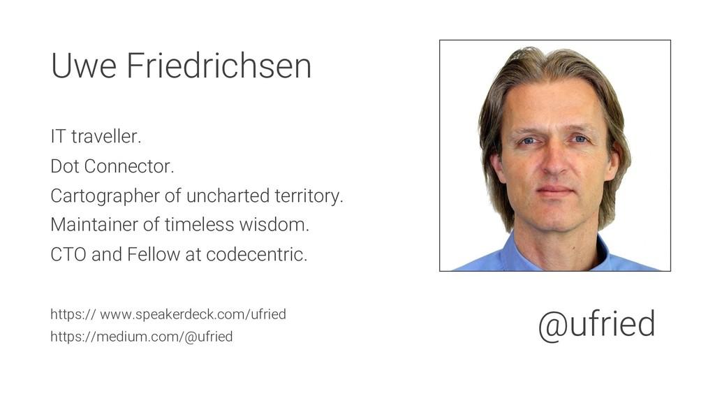 Uwe Friedrichsen IT traveller. Dot Connector. C...