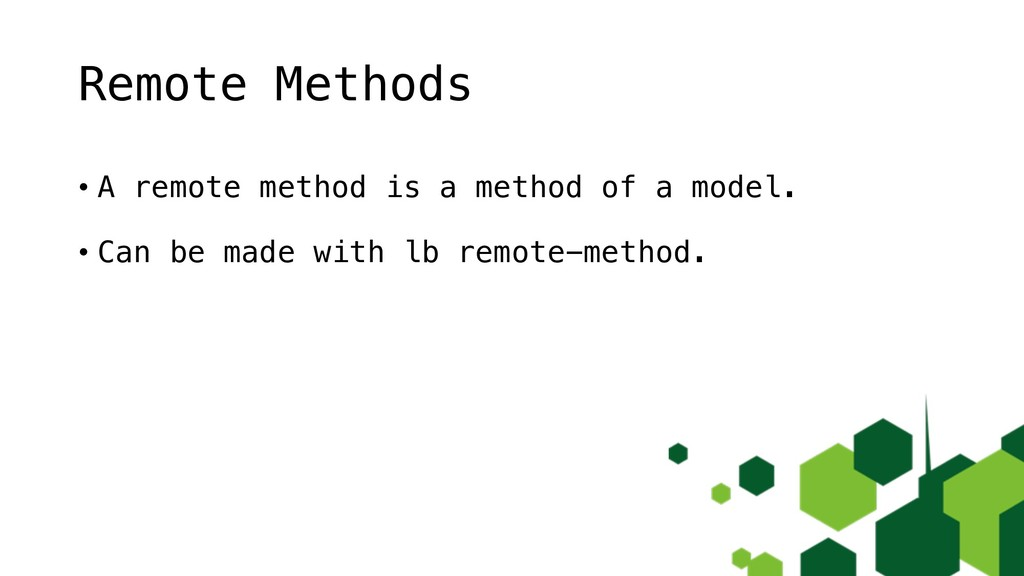 Remote Methods • A remote method is a method of...