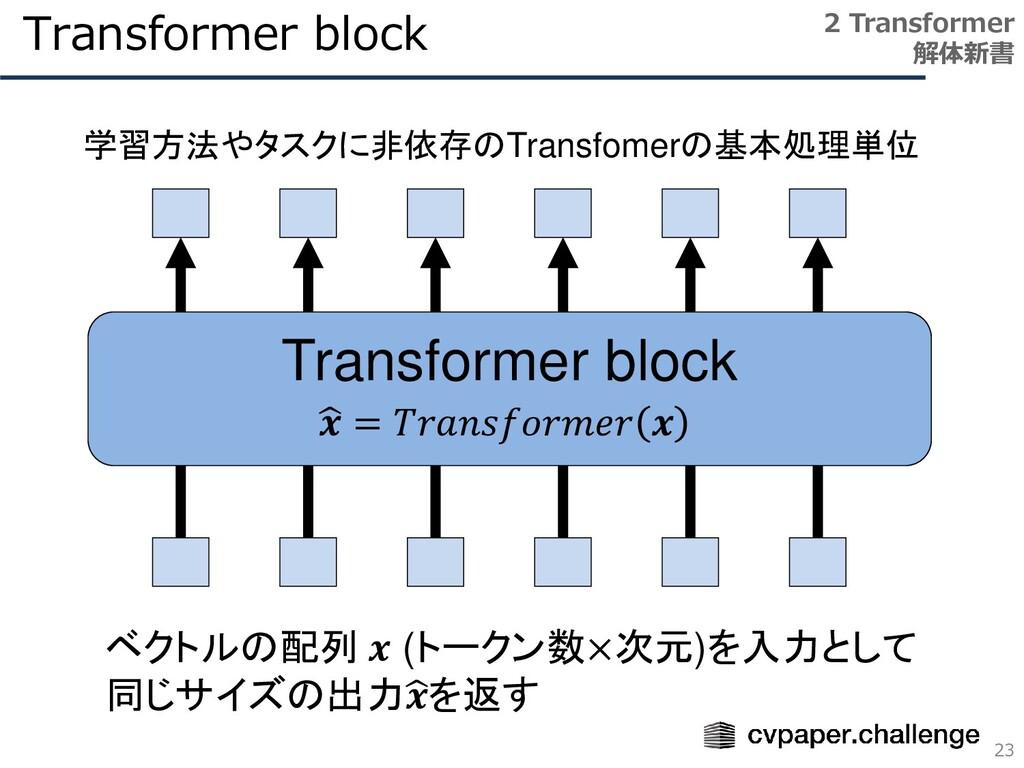 Transformer block 23 2 Transformer 解体新書 Transfo...