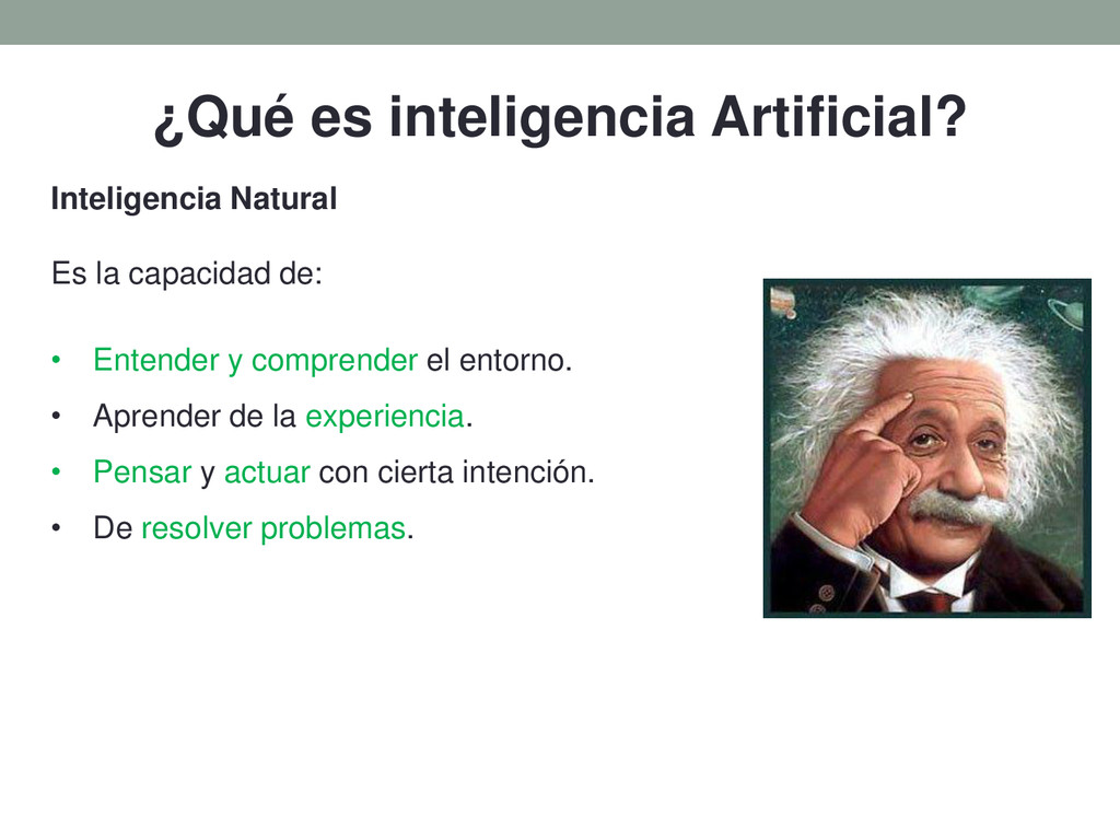 ¿Qué es inteligencia Artificial? Inteligencia N...