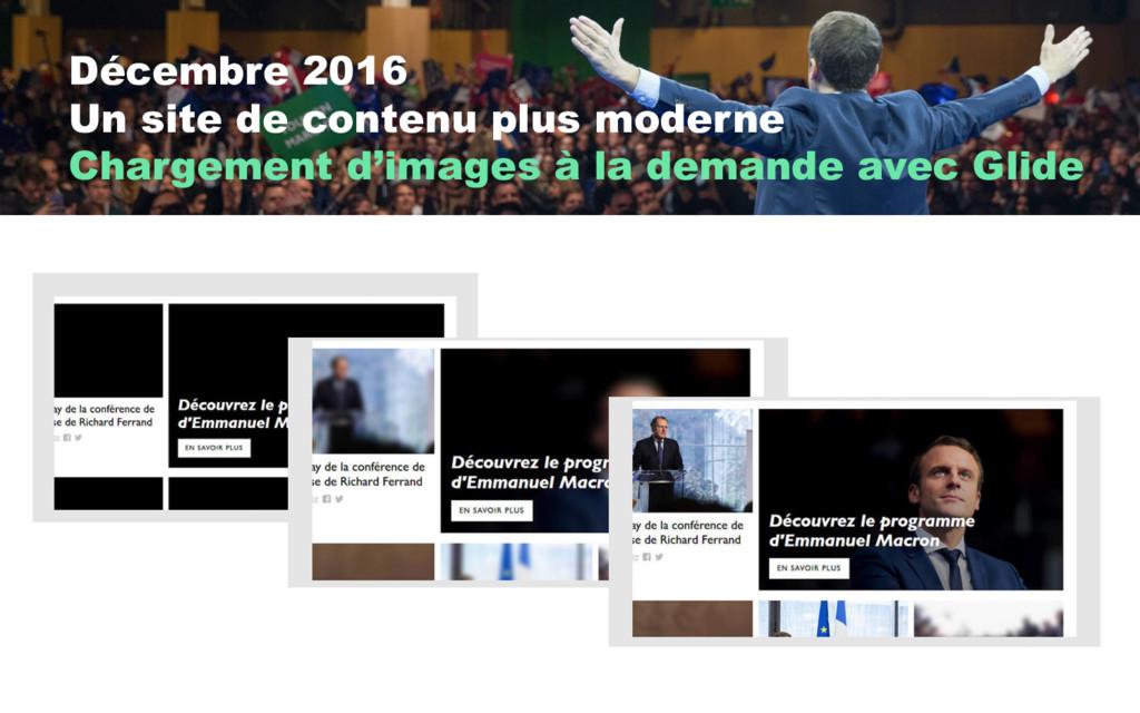 Décembre 2016 Un site de contenu plus moderne C...
