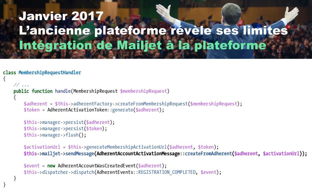 Janvier 2017 L'ancienne plateforme révèle ses l...