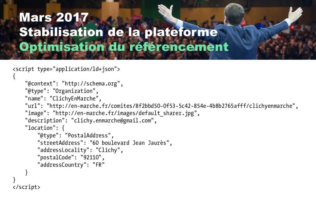Mars 2017 Stabilisation de la plateforme Optimi...