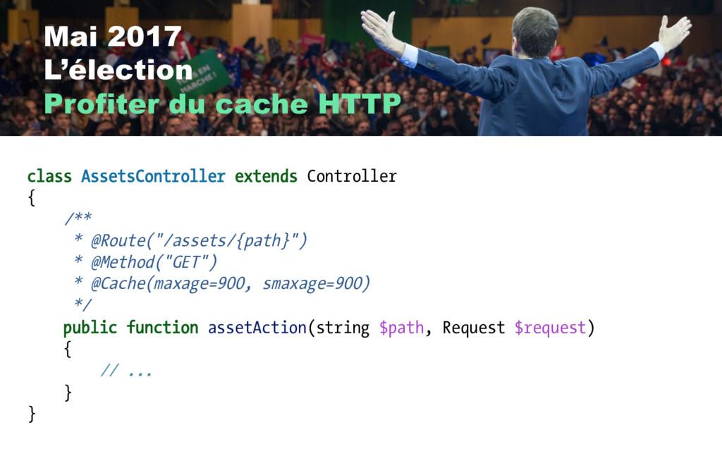 Mai 2017 L'élection Profiter du cache HTTP clas...