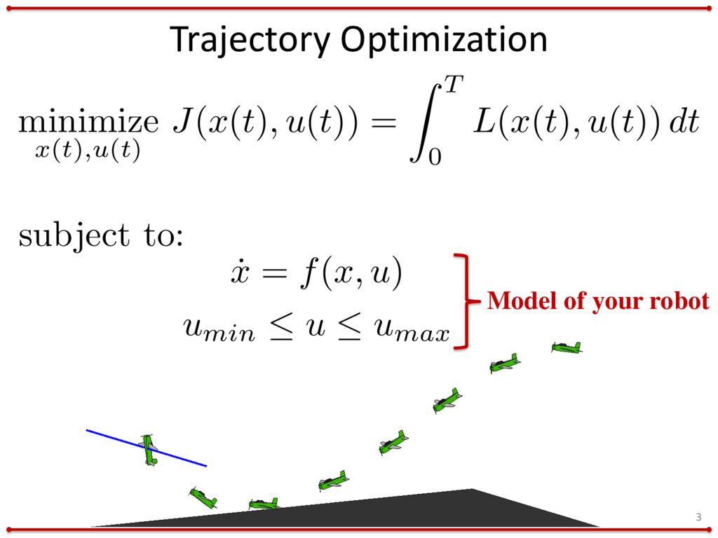 minimize x(t),u(t) J(x(t), u(t)) = Z T 0 L(x(t)...