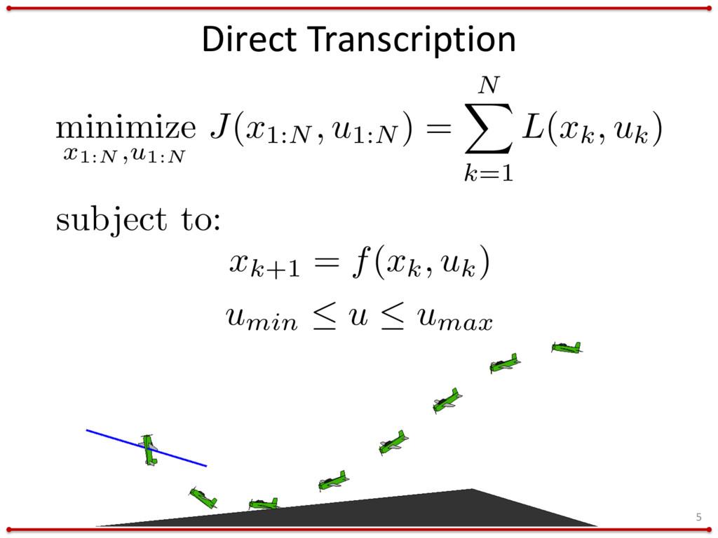 minimize x1:N ,u1:N J(x1:N , u1:N ) = N X k=1 L...