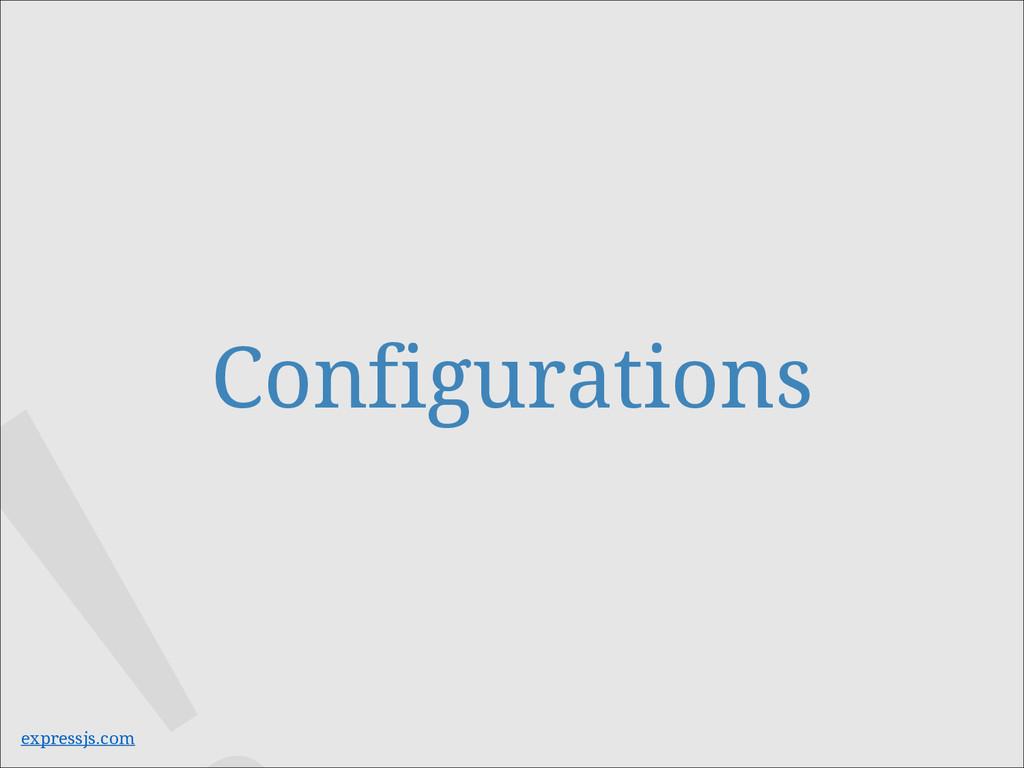 Configurations expressjs.com