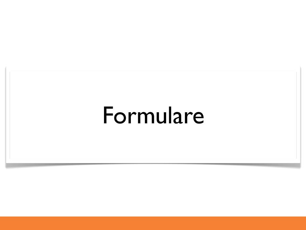 Formulare