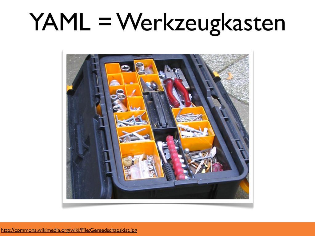 YAML = Werkzeugkasten http://commons.wikimedia....