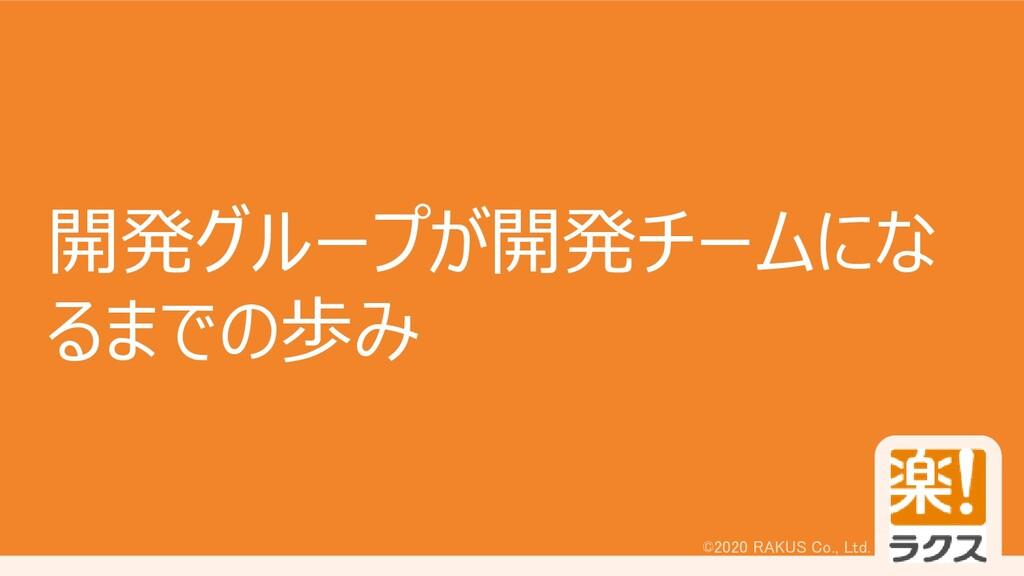 ©2020 RAKUS Co., Ltd. 開発グループが開発チームにな るまでの歩み