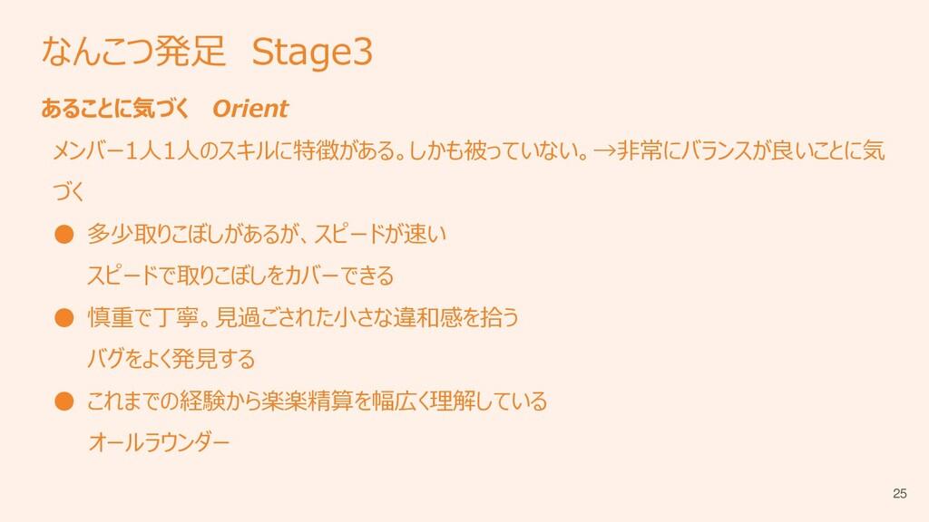 なんこつ発足 Stage3 あることに気づく Orient メンバー1人1人のスキルに特徴があ...
