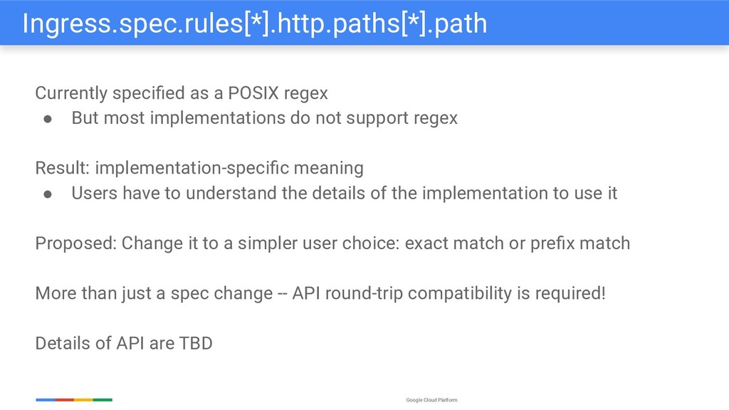 Google Cloud Platform Currently specified as a P...