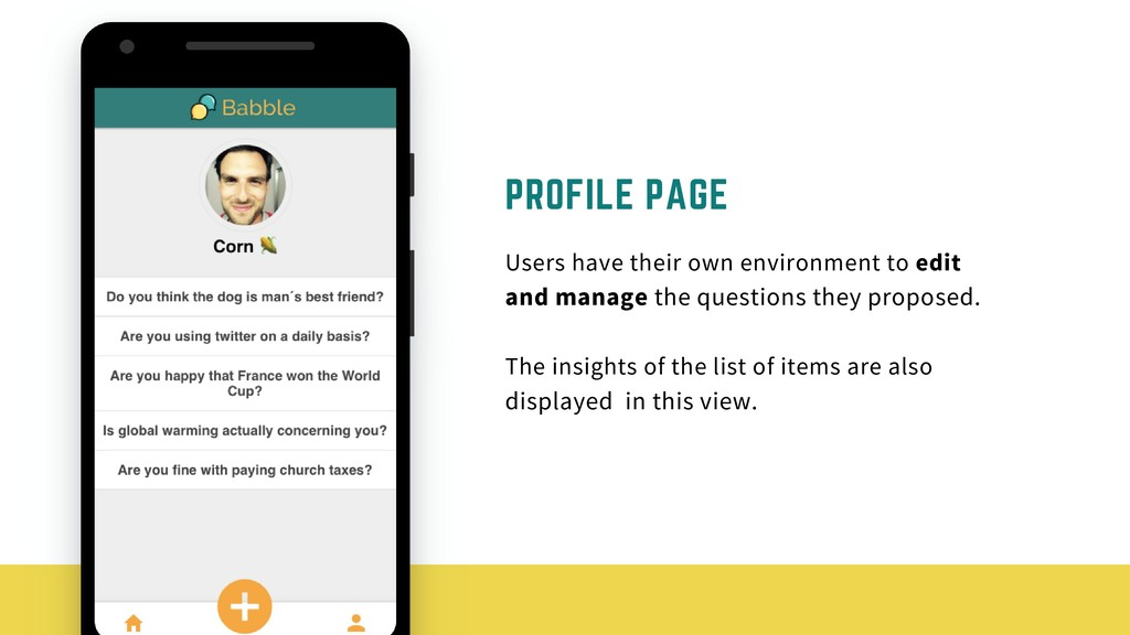 PROFILE PAGE Users have their own environment t...