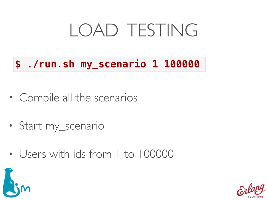 LOAD TESTING • Compile all the scenarios • Star...