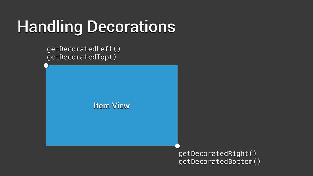 Handling Decorations Item View getDecoratedLeft...