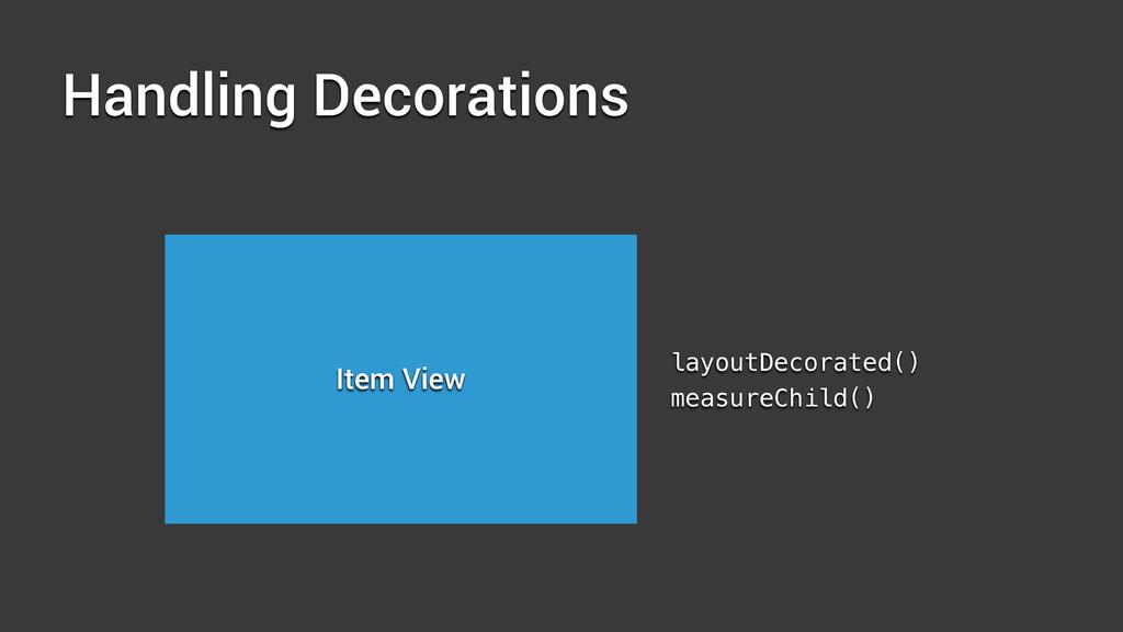 Handling Decorations Item View layoutDecorated(...