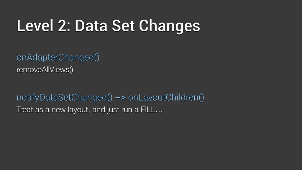 Level 2: Data Set Changes onAdapterChanged() re...