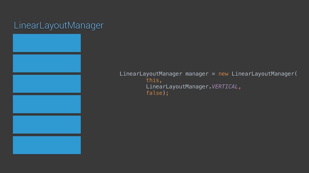 LinearLayoutManager LinearLayoutManager manager...
