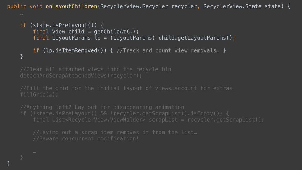 public void onLayoutChildren(RecyclerView.Recyc...
